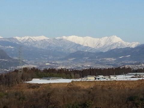 武尊山麓でスキー