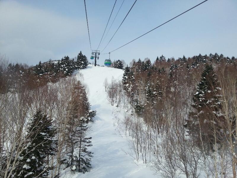 志賀高原スキーの二日目